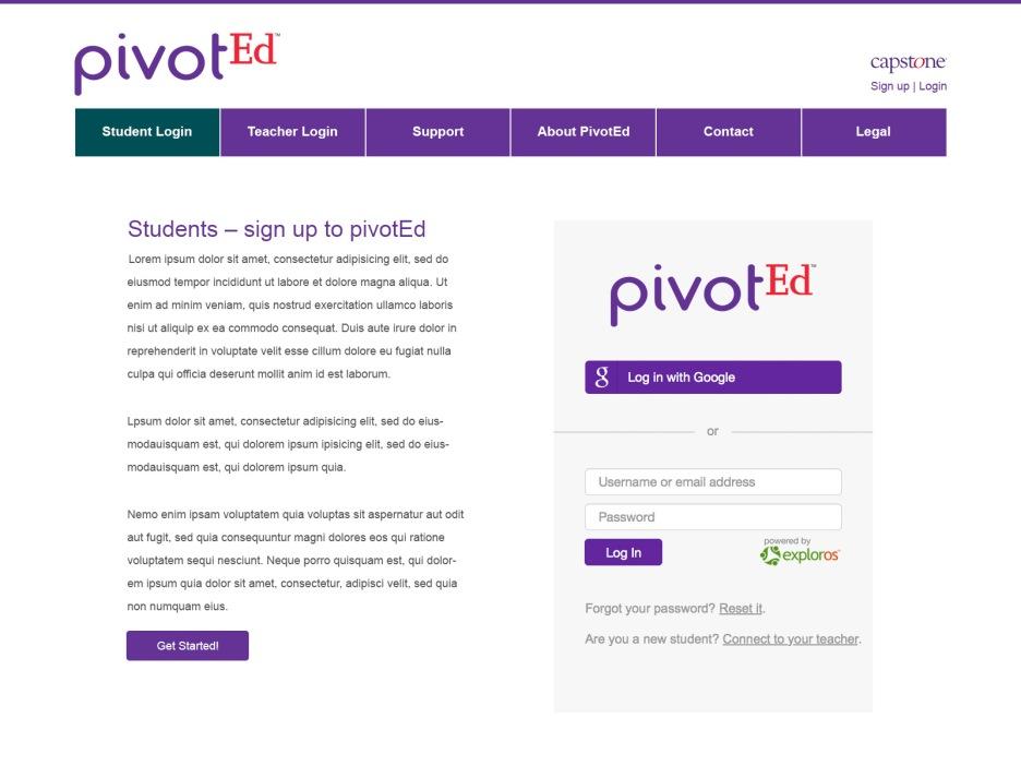 pivotEd.com_student_login